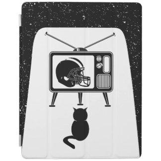 Lustige Katze, die amerikanischen Fußball aufpasst iPad Hülle