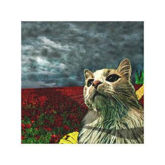 "Lustige Katze Fantasie-Leinwand-Druck ""Zauberers Leinwanddruck"