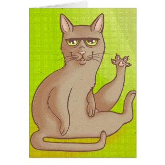 Lustige Katze Mitteilungskarte