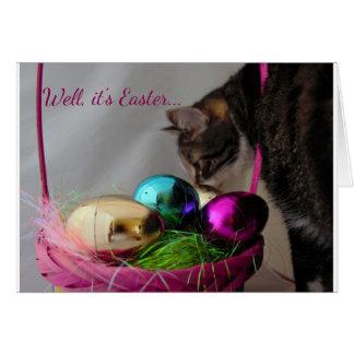 Lustige Katze Ostern Karte