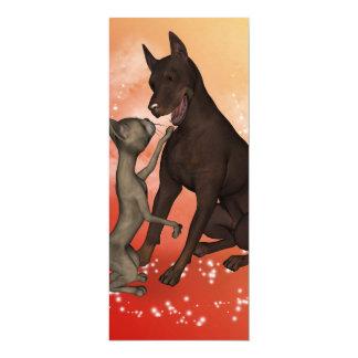 Lustige Katze und der Hund 10,2 X 23,5 Cm Einladungskarte