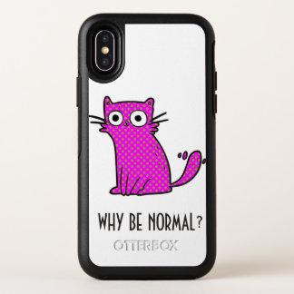 Lustige Katze, warum normales einzigartiges buntes OtterBox Symmetry iPhone X Hülle