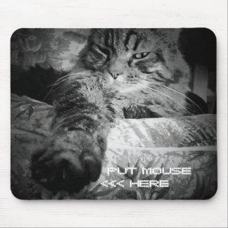 Lustige Katze will Maus Mousepads