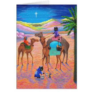 Lustige Katzen-christliche Weihnachtskarte Karte