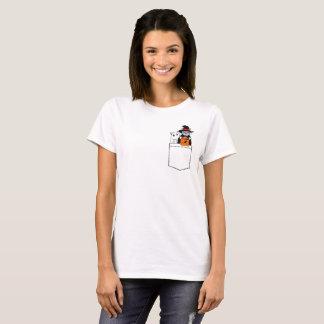 Lustige Katzen Halloweens in der Tasche T-Shirt