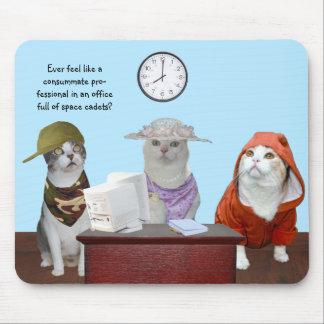 Lustige Katzen-/Kätzchen-Büro-Mitarbeiter Mousepad