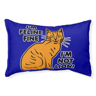 Lustige Katzen-Wortspiel-orange Haustierbett
