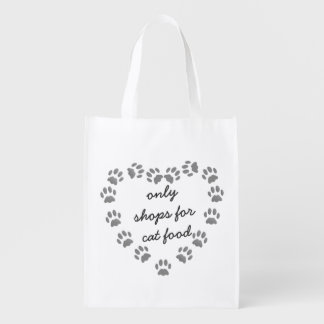 Lustige Katzenfutter-Einkaufstasche Wiederverwendbare Einkaufstasche