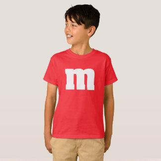 Lustige Kinder M und m-Süßigkeits-Shirt T-Shirt