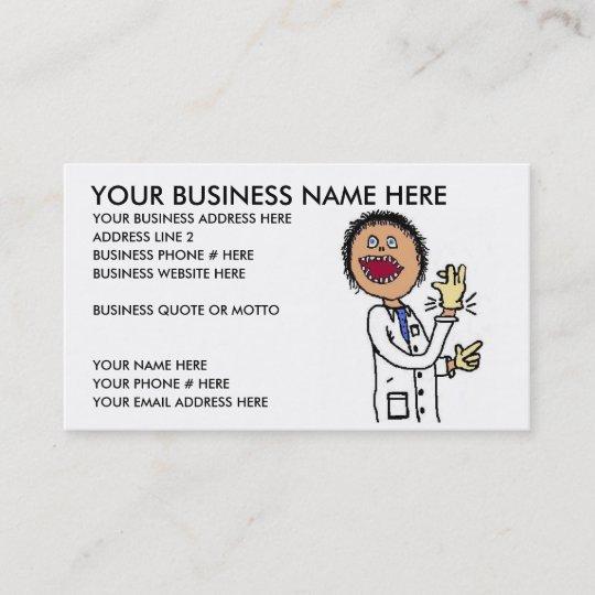 Lustige Kinderarzt Visitenkarte Visitenkarte Zazzle De