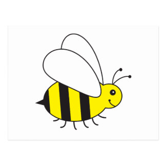 Lustige kleine Honig-Biene niedlich Postkarte