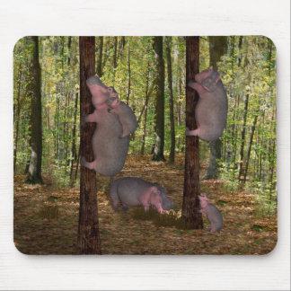 Lustige Koala-Möchtegern Flusspferde Mauspads