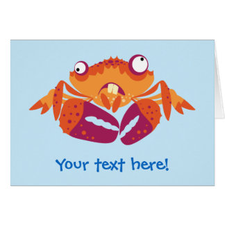 Lustige Krabbe Karte