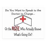 Lustige Krankenschwester-Geschenke Postkarte