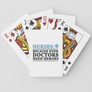 Lustige Krankenschwester-Held Spielkarten