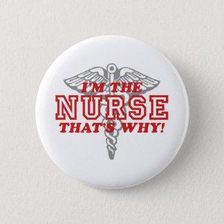 Lustige Krankenschwester Runder Button 5,1 Cm