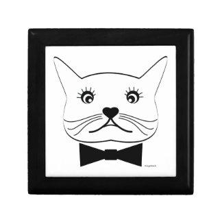 Lustige Kreuz-mit Augen männliche Katze, cool Geschenkbox
