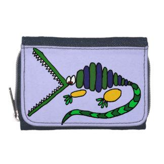 Lustige Krokodil-Kunst-Geldbörse