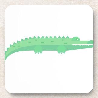 Lustige Krokodil-nahtloses Muster Getränkeuntersetzer