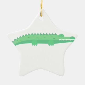 Lustige Krokodil-nahtloses Muster Keramik Stern-Ornament