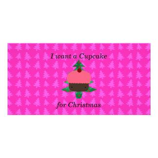 Lustige Kuchenweihnachtsgeschenke Fotokarten