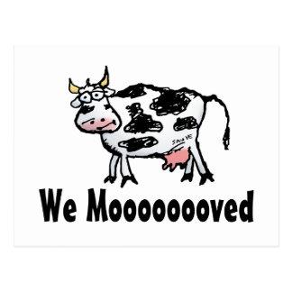 Lustige Kuh-Adressenänderung Postkarte