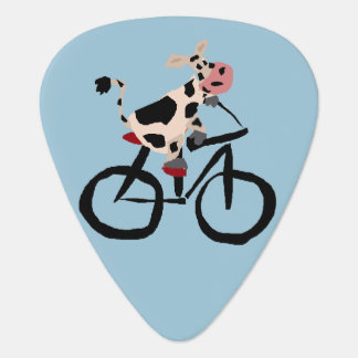 Lustige Kuh auf Fahrrad Plektrum