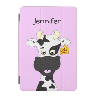 Lustige Kuh-Cartoonmädchen iPad Mini Hülle