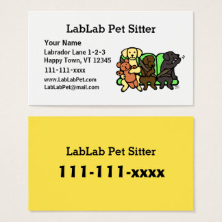 Lustige Labrador-Haustier-Modell-Visitenkarten Visitenkarten
