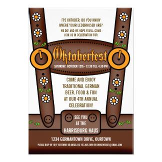 Lustige Lederhosen Oktoberfest Party Einladungen