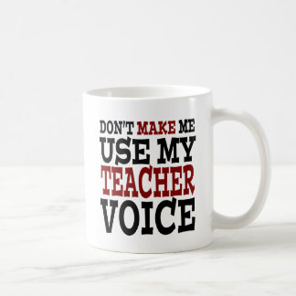 Lustige Lehrer-Stimme Tasse