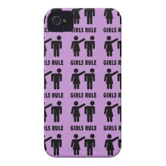 Lustige Mädchen-Regel-lila iPhone 4 Cover