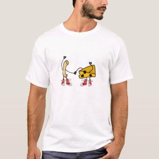 Lustige Makkaroni-und Käse-Cartoon-Kunst T-Shirt