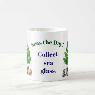 """Funny """"Seas the Day! Collect Sea Glass."""" Tree"""