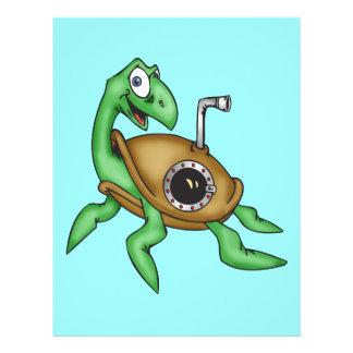 Lustige Meeresschildkröte 21,6 X 27,9 Cm Flyer