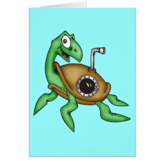 Lustige Meeresschildkröte Grußkarten