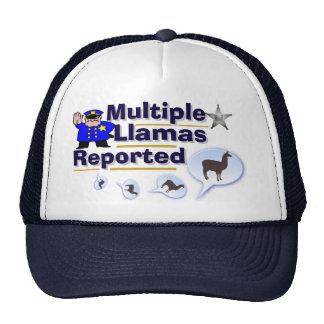 Lustige mehrfache Lamas berichteten über Hut Truckerkappen
