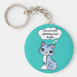 Lustige Miezekatze-Katze, die Ihren Tod grafisch Schlüsselanhänger