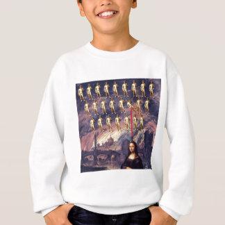 Lustige Mona Lisa u. David Sweatshirt