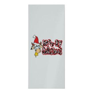 Lustige Moory Weihnachtskuh MOO-Relais 10,2 X 23,5 Cm Einladungskarte