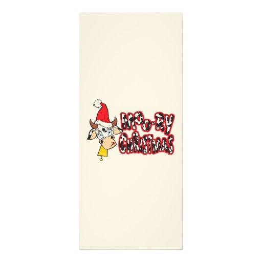 Lustige Moory Weihnachtskuh MOO-Relais Personalisierte Einladung