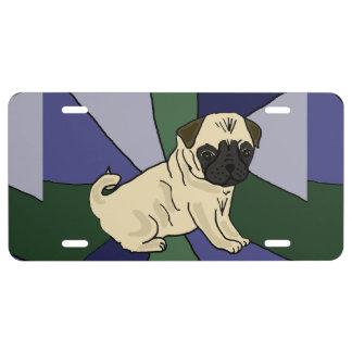 Lustige Mops-Hundefronten-Lizenz-Platte US Nummernschild
