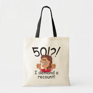 Lustige Nachzählungs-50. Geburtstag Tragetasche