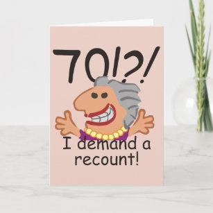 70 Geburtstags Cartoon Karten Zazzle De