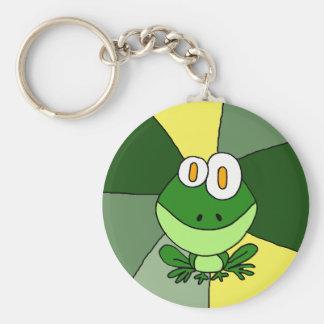 Lustige nette Frosch-Kunst Schlüsselanhänger
