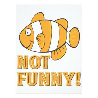lustige NICHT LUSTIGE clownfish Clownfische 16,5 X 22,2 Cm Einladungskarte