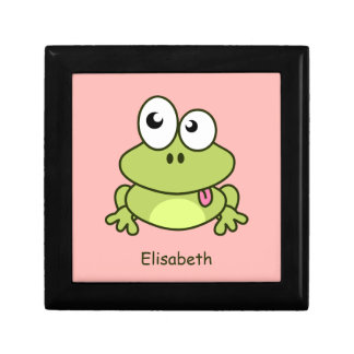 Lustige niedliche Frosch-Cartoonkinder Geschenkbox