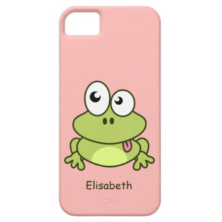 Lustige niedliche Frosch-Cartoonkinder iPhone 5 Schutzhülle