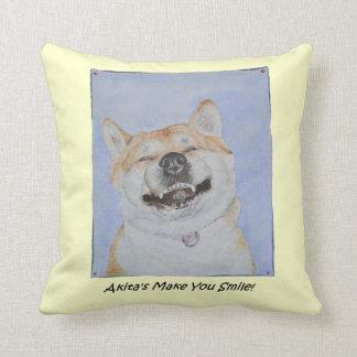 lustige niedliche Realist-Hundekunst Akitas Kissen