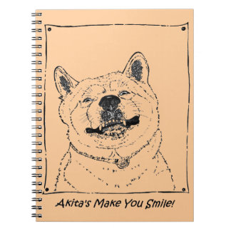 lustige niedliche Realist-Hundekunst Akitas Notizblock